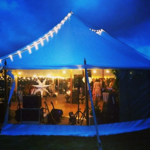 Wedding Band In A Marquee